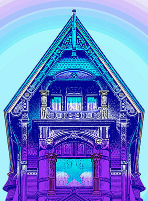 Pop Art Royalty-Free and Rights-Managed Images - Victorian Gable by Greg Joens