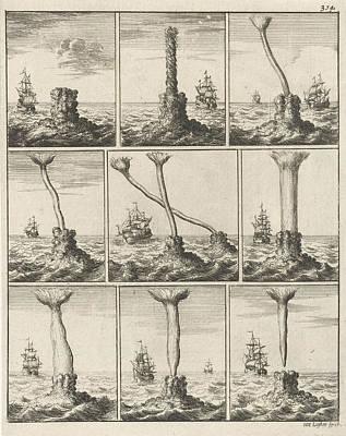 Tornado Drawing - Print, Print Maker Jan Luyken Mentioned On Object by Jan Luyken