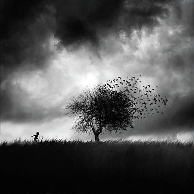 Dark Skies Photograph - Printemps Perdu by Sebastien Del Grosso