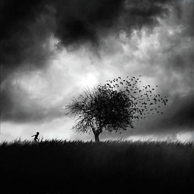 Children Playing Photograph - Printemps Perdu by Sebastien Del Grosso