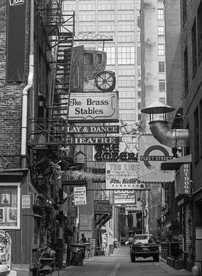 Photograph - Printers Alley Nashville  by Robert Hebert
