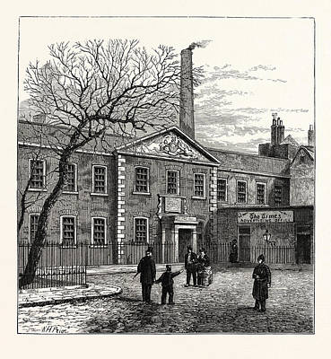 Office Space Drawing - Printing House Square And The Times  Office 1870 London by English School