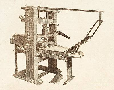 Printing Press Art Print by David Parker