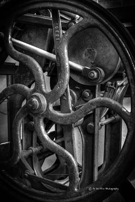 Printing Press Flywheel Art Print