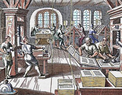 Printing Press Seventeenth Century Art Print