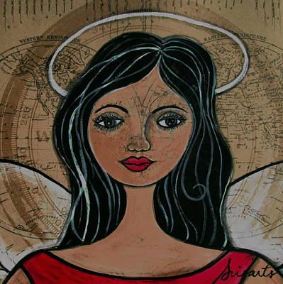 Painting - Prisarts Angel by Pristine Cartera Turkus