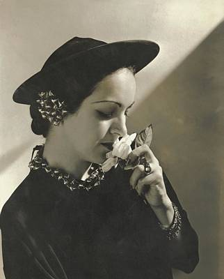 Priscilla Lawson Wearing A Lilly Dache Hat Art Print