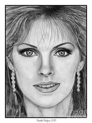 Elvis Presley Drawing Drawing - Priscilla Presley In 1980 by J McCombie