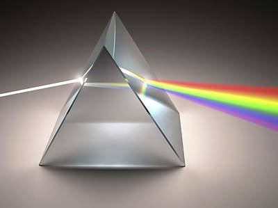 Bright Colours Photograph - Prism And Rainbow by Ktsdesign