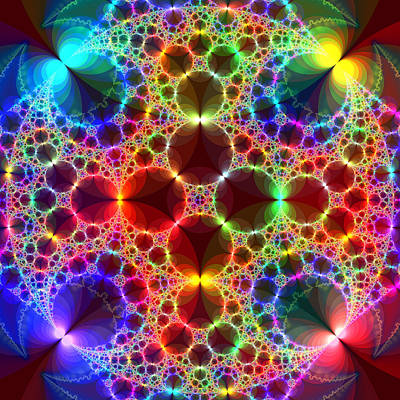 Trippy Digital Art - Prism Bubbles by Tammy Wetzel