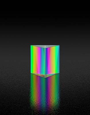 Prism Refracting White Light Art Print by David Parker