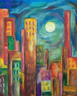Pastel - Prismatic Cityscape by Molly Williams