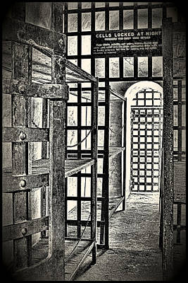 Art Print featuring the photograph Prison Cell ... by Chuck Caramella