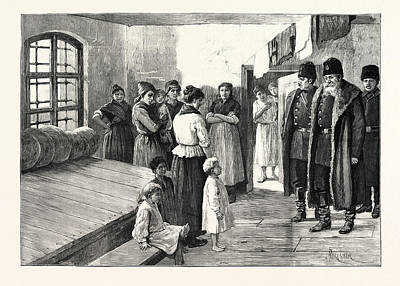 Indoor Drawing - Prison Life In Siberia The Governor Visiting The Womens by English School