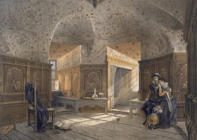 First-family Drawing - Prison Of King Erik Xiv, Son Of Gustav I by Karl Johann Billmark