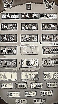 Mementos Mixed Media - Prison Tour 3 - Old Wyoming Plates - Sepia by Steve Ohlsen