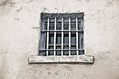Prison Window - Historical Old Frontier Prison Art Print by Steve Ohlsen