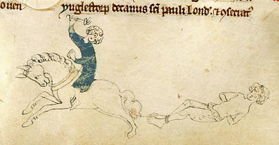 Clergy Photograph - Prisoner Dragged Behind Horse by British Library