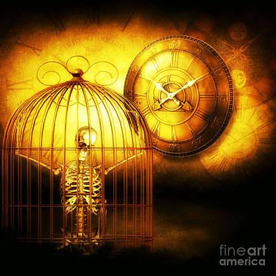 Prisoner Of Time  Art Print by Putterhug  Studio