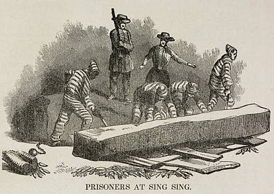 Prisoners At Sing Sing Print by British Library