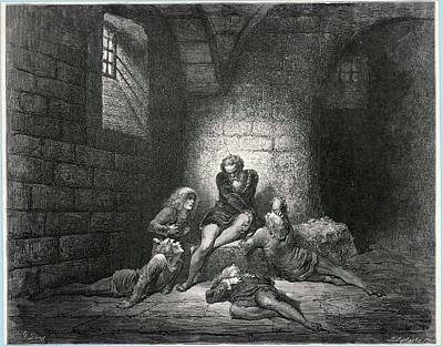 Dungeon Drawing - Prisoners In A Dungeon by Mary Evans Picture Library