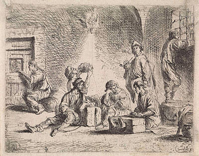 Prisoners In Prison, Cornelis De Wael Art Print by Cornelis De Wael