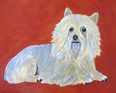 Art Print featuring the painting Prissy by Suzanne Theis