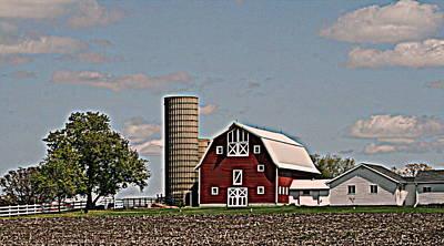 Photograph - Pristine Wisconsin Farm by Kay Novy