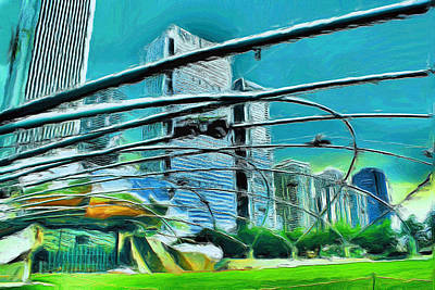 Painting - Pritzker Pavilion - 20 by Ely Arsha