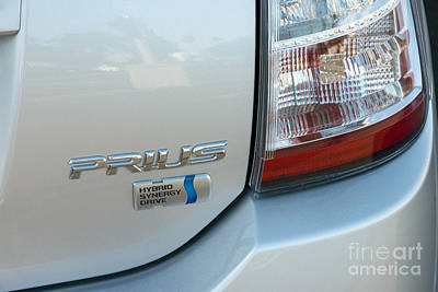 Photograph - Prius Hybrid Toyota Rear Tail Light Close Up by David Zanzinger
