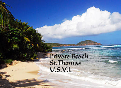 Photograph - Private Beach by Gary Wonning