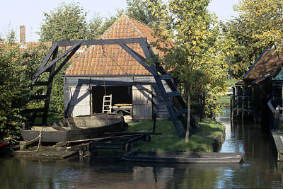Flevoland Photograph - Private Boathouse by Roderick Bley