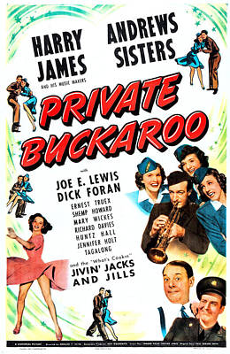 Harry James Photograph - Private Buckaroo, Us Poster, Middle by Everett