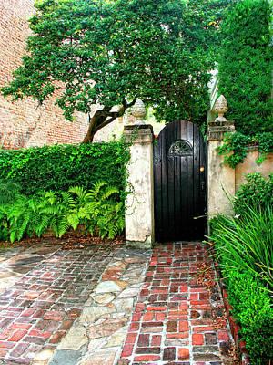 Cement Walkway Photograph - Private Charleston Charleston Sc by William Dey