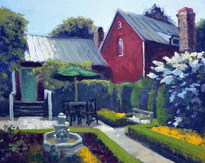 Private Courtyard Art Print
