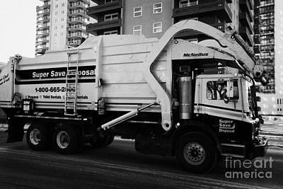 private disposal company truck Saskatoon Saskatchewan Canada Art Print by Joe Fox