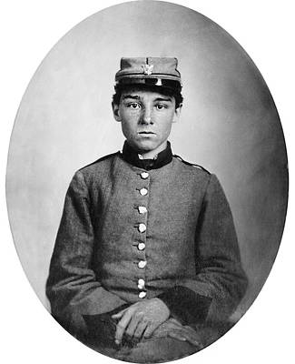 Youth Photograph - Private Edwin Francis Jemison by Celestial Images