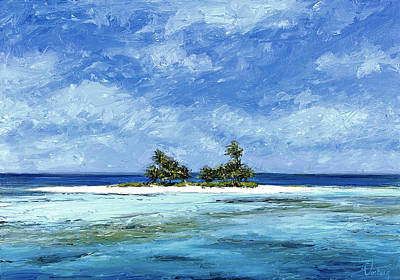 Haleiwa Painting - Private Isle by Stacy Vosberg