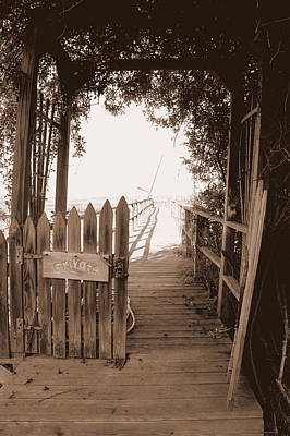 Photograph - Private Pier by Laurie Perry