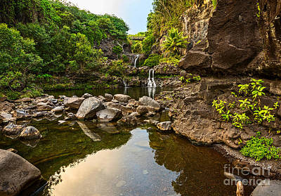 Photograph - Private Pool Paradise - The Beautiful Scene Of The Seven Sacred Pools Of Maui. by Jamie Pham