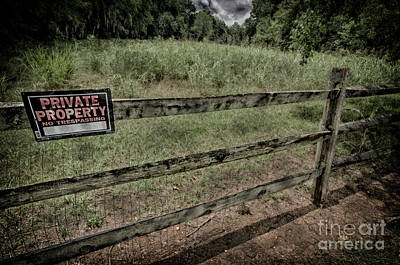 Photograph - Private Property by Danny Hooks