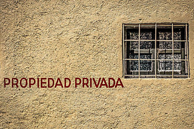 Photograph - Private Property by Melinda Ledsome