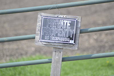 Photograph - Private Property by Michelle Hoffmann