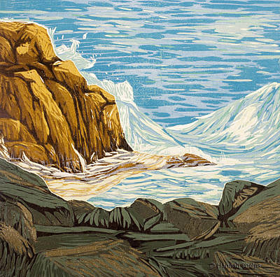 Maine Coast Mixed Media - Private Wave by Hannah Phelps