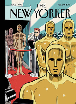 Oscar Painting - Privileged Characters by Daniel Clowes