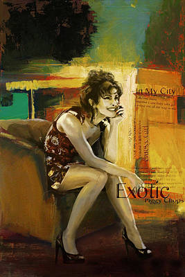 Priyanka Chopra Art Print by Corporate Art Task Force