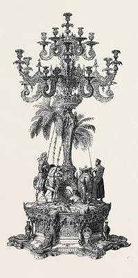 Prize Candelabrum Art Print by English School