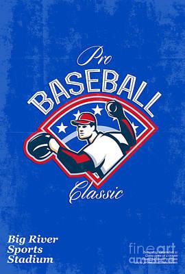 Pro Baseball Classic Tournament Retro Poster Art Print by Aloysius Patrimonio
