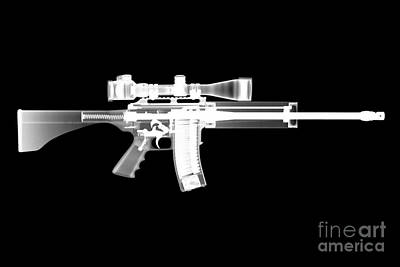 X-ray Photograph - Pro Ordnance Carbon Ar15 by Ray Gunz