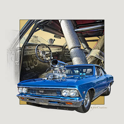 Slick Digital Art - Pro Street 1966 Chevelle Ss  by Roger Beltz